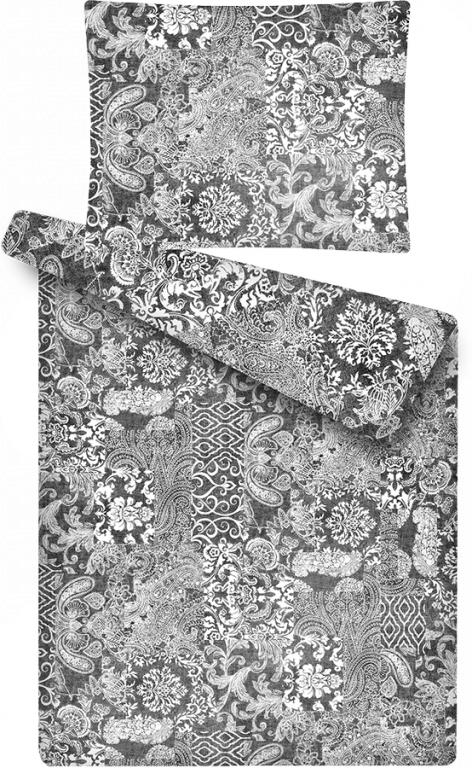 Luxusní povlečení z mikroflanelu se vzorem patchworku Šedý vzor