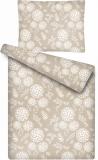 Luxusní povlečení z mikroflanelu s motivem květů Květy hnědé