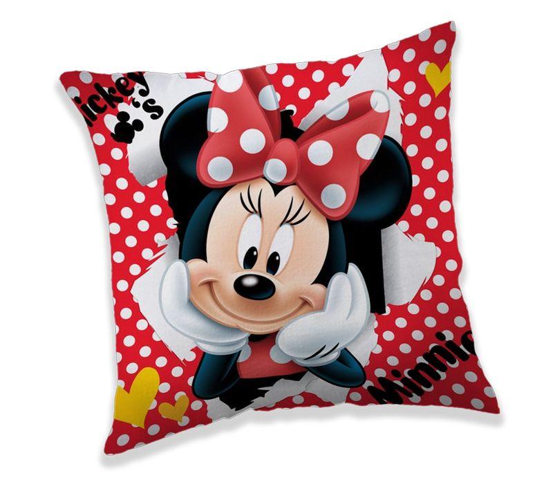 Červený polštářek s puníky Minnie Jerry Fabrics