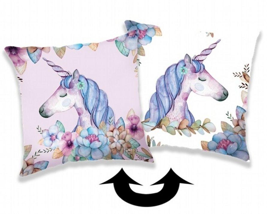 Polštářek Unicorn, jednorožec s flitry Jerry Fabrics
