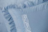 Povlak váleček s modrým drobným proužkem