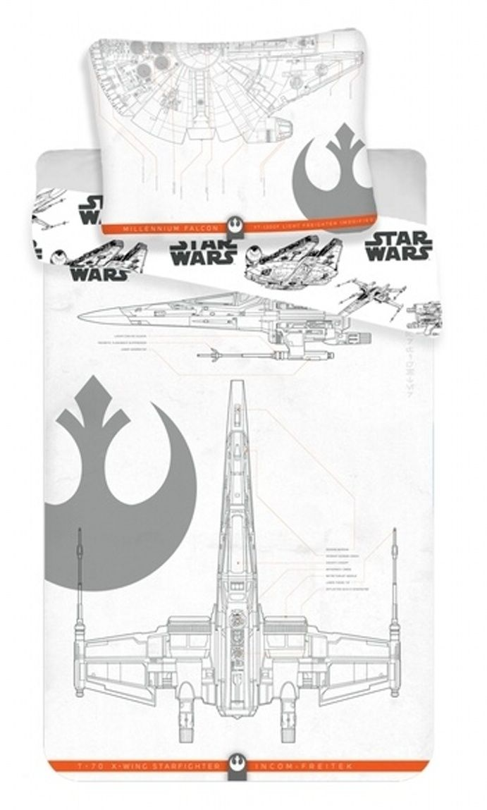 Bavlněné povlečení pro chlapce Star Wars 9 vehicles Jerry Fabrics