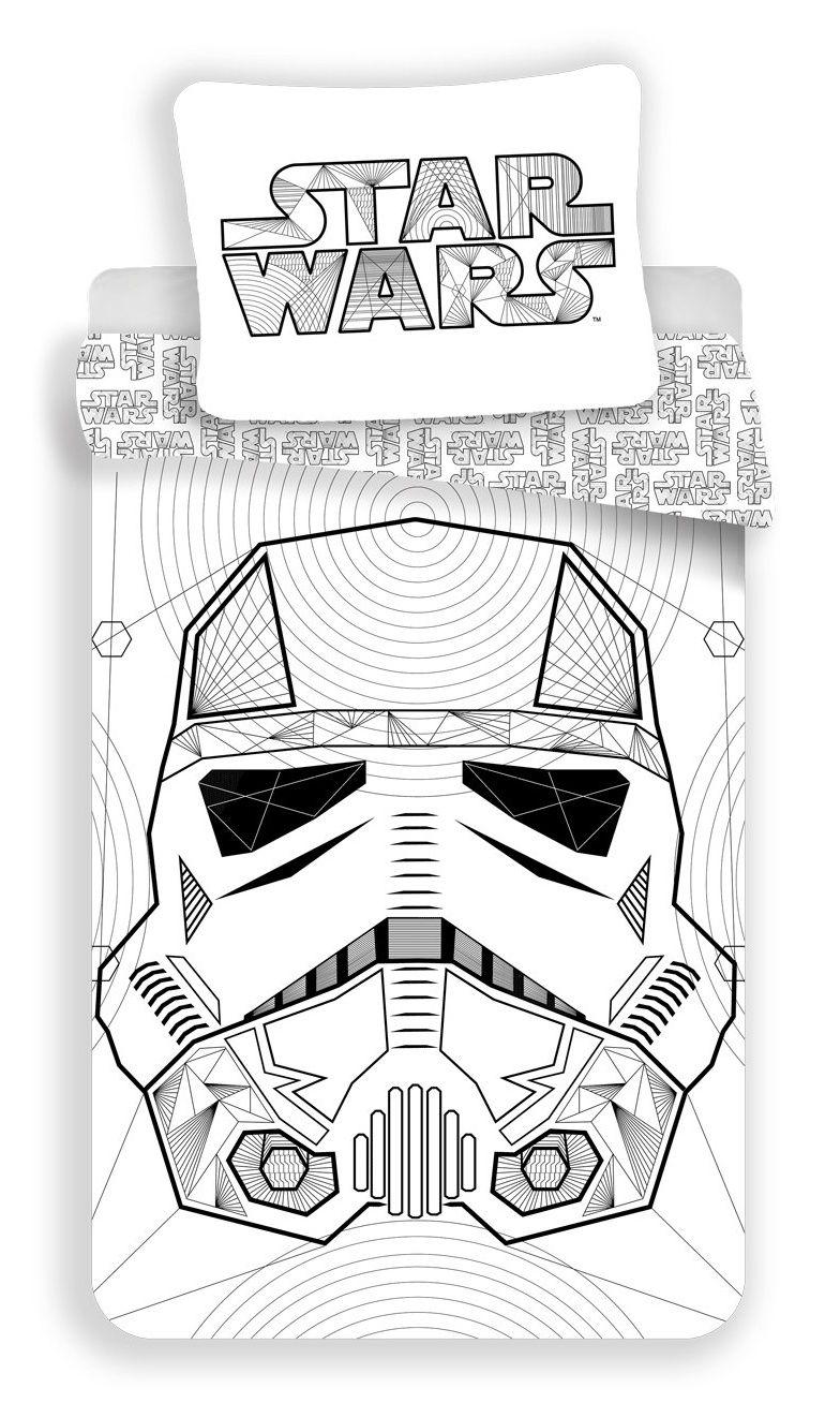 Kvalitní bavlněné povlečení bílé barvy Star Wars Jerry Fabrics