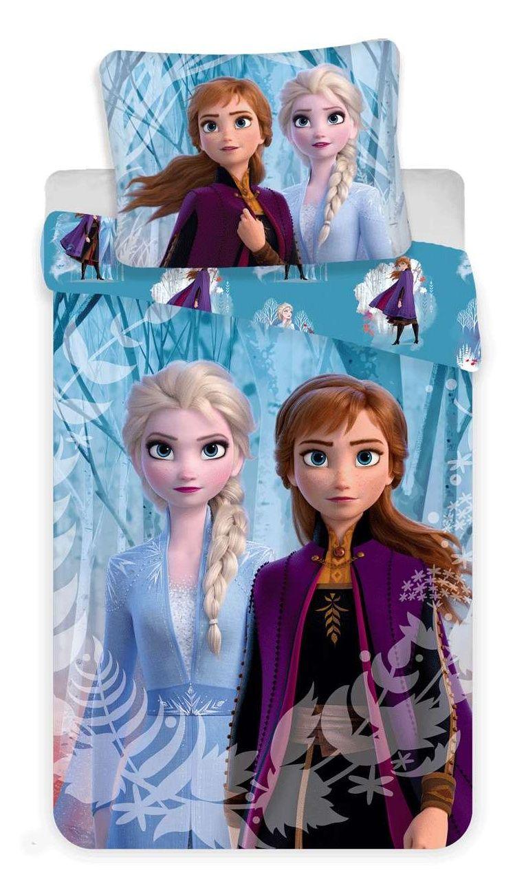 Bavlněné povlečení Frozen 2 na modrém podkladu Jerry Fabrics