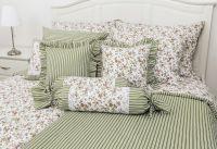 Povlečení Kytička se zeleným proužkem (bavlna) Provence