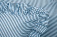 Povlečení selského stylu modrého drobného proužku