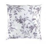 Bavlněné povlečení s motivy květin a proužkú v šedo-bílé barvě Montera. Kvalitex