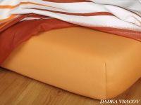 Jersey prostěradlo karamel 180x200x18 II.jakost