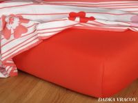 Jersey prostěradlo terakota 90x200x18 cm