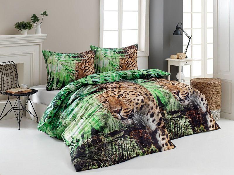 Kvalitní bavlněné povlečení divoký Leopard s přírodními motivy v moderním pojetí. Matějovský