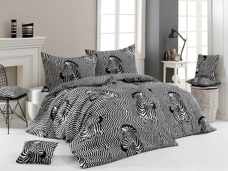 Kvalitní bavlněné povlečení Zebry v černo-bílém provedení. Matějovský
