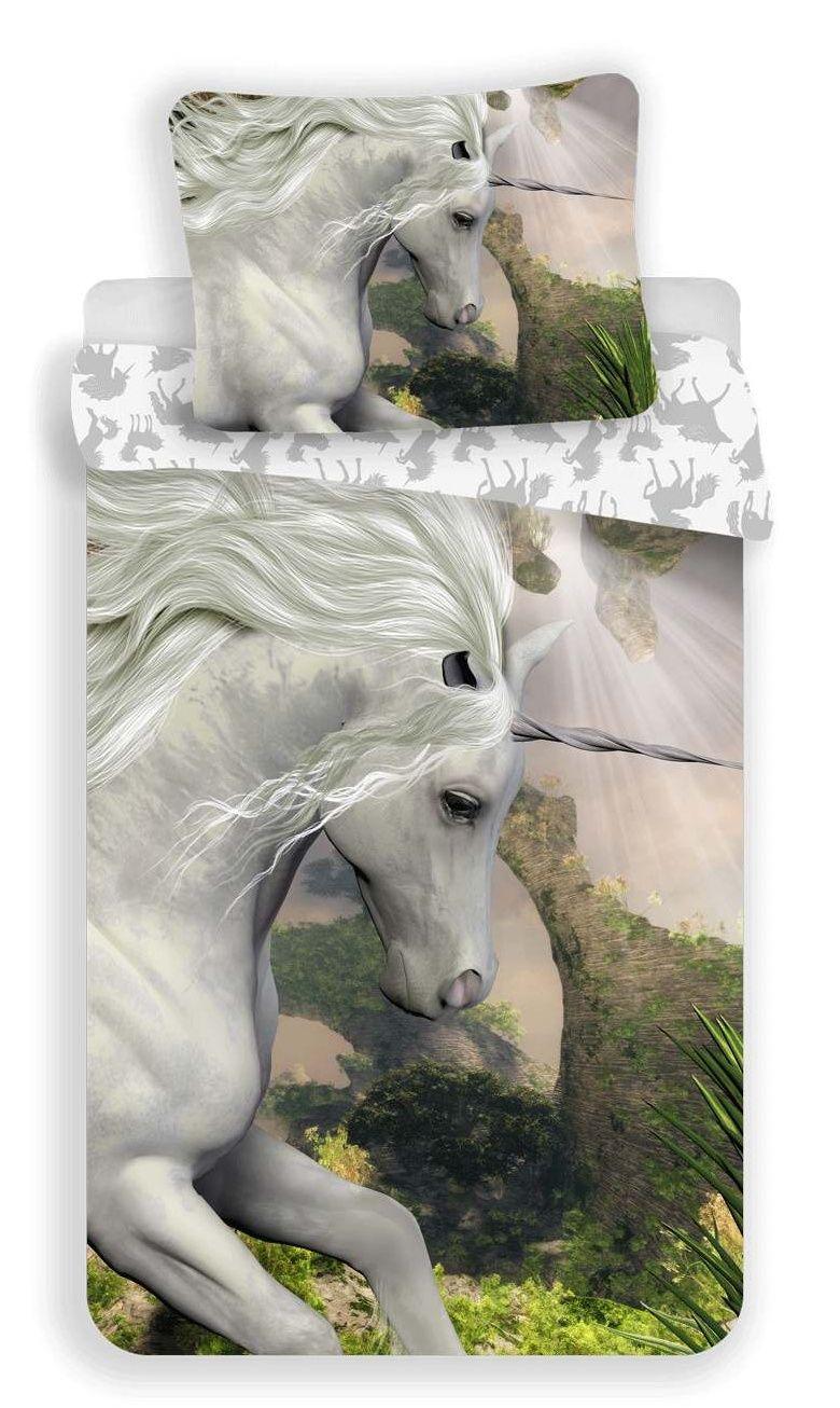 Bavlněné povlečení s motivem bílého jednorožce Jerry Fabrics