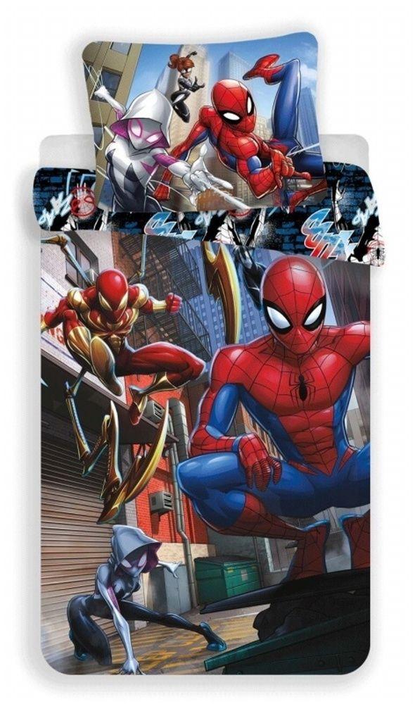 Bavlněné povlečení s motivem Spidermana na modrém podkladu Jerry Fabrics