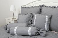 Krepové povlečení jednobarevné šedé