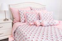 Krepové povlečení ROSE / UNI pink