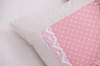 Povlečení oboustranné selského stylu se vzorem patchworku a puntíků