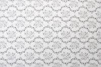 Povlečení oboustranné selského stylu se vzorem patchworku a ornamentu šedé barvy