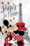 Detská fleecová deka Minnie a Mickey v Paríži Jerry Fabrics