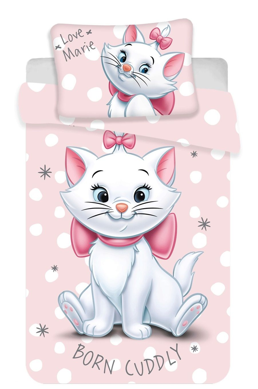 Povlečení do postýlky Marie cat dots baby Jerry Fabrics