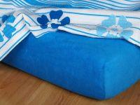 Froté prostěradlo 160x200x15 královská modř Nestandard