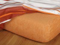 Froté prostěradlo karamel 90x200x23 cm