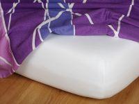 Jersey prostěradlo bílé 90x200x22 cm Nestandard