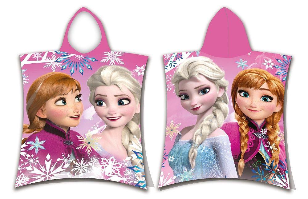 Dětské pončo osuška Frozen sisters Jerry Fabrics