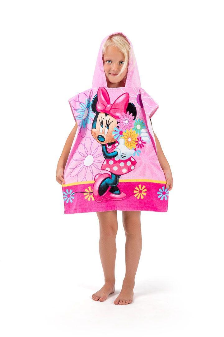 Pončo pro holčičky růžové barvy Minnie Flowers Jerry Fabrics