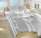 Povlečení bavlna Kostky šedé 140x220, 70x90 cm II.jakost