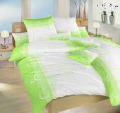 Povlečení bavlna Smyčky kiwi 140x220, 70x90 cm II.jakost