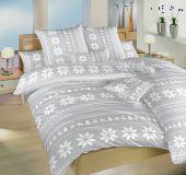 Povlečení bavlna Sobi šedí 140x220, 70x90 cm II.jakost