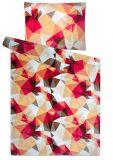 Mikroflanel povlečení červené a hnědé barvy Deep forest bordó Svitap