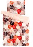 Mikroflanelové povlečení s mozaikovým vzorem červené a béžové barvy Svitap