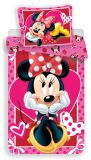 Bavlněné povlečení pro dívky s motivem Minnie na růžovém podkladu Jerry Fabrics