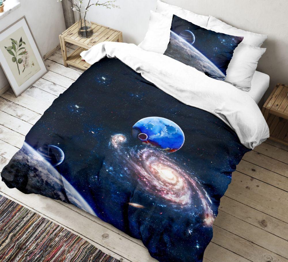 Krásné bavlněné povlečení s vesmírným motivem. Kvalitex