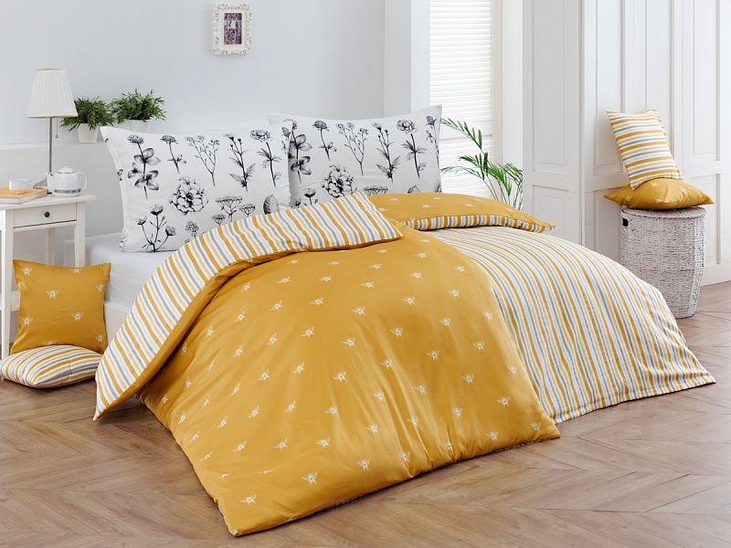 Luxusní bavlněné povlečení s decentním vzorem včeliček Adore Matějovský