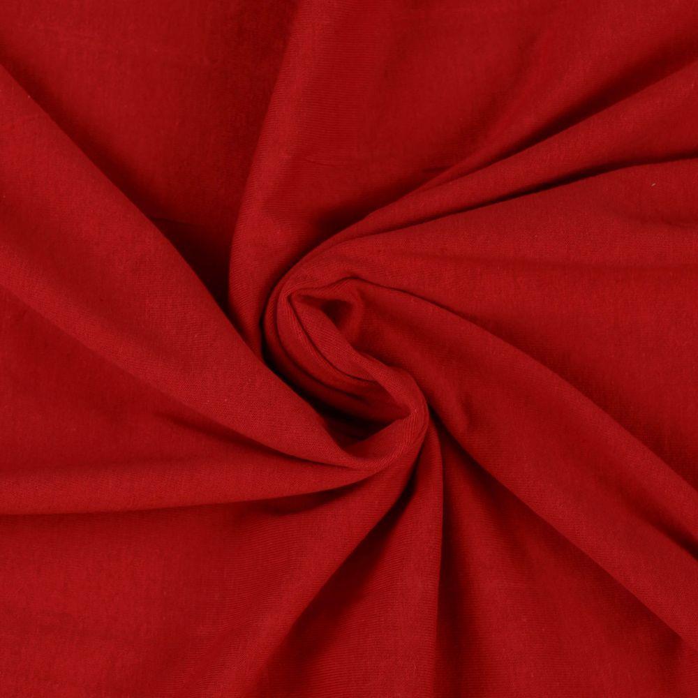 Napínací jersey prostěradlo červené - různé rozměry Kvalitex