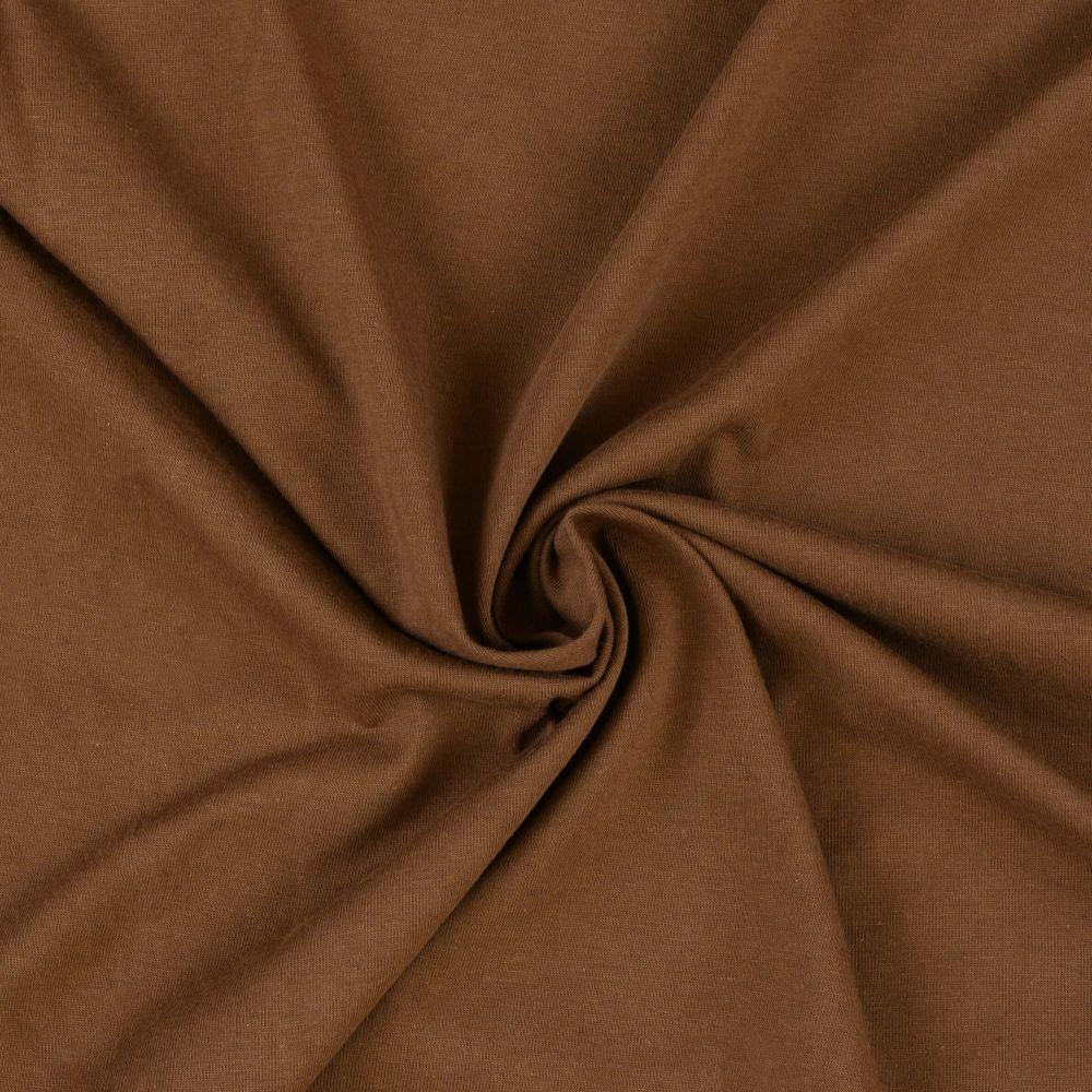 Napínací jersey prostěradlo tmavě hnědé - různé rozměry Kvalitex