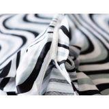 Saténové povlečení 3dílná sada se vzorem vln, povlečení Bruno + povlak na polštářek