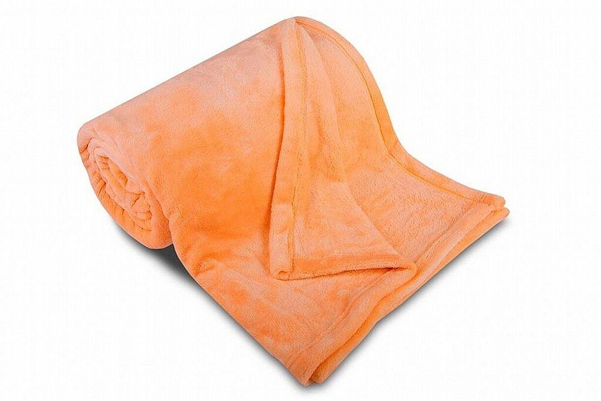 Kvalitní mikroflanelová deka v oranžové barvě Svitap
