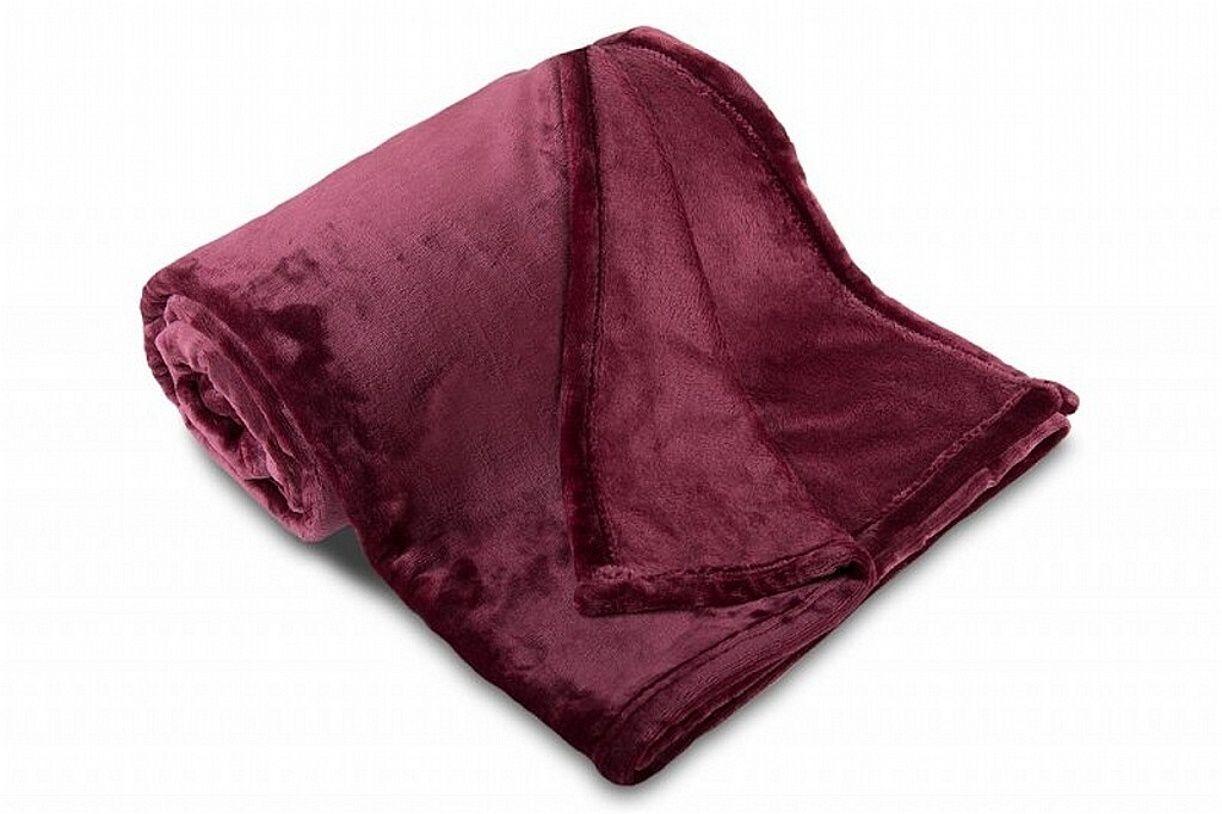 Kvalitní mikroflanelová deka v tmavě fialové barvě Svitap