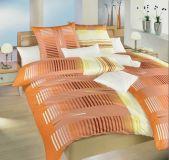 Povlečení bavlna Čárový kód oranžový 140x200, 70x90 cm II.jakost | Povlečení bavlna Čárový kód oranžový 140x200, 70x90 cm II.jakost