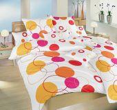 Povlečení bavlna Planety oranžové 140x200, 70x90 cm II.jakost | Povlečení bavlna Planety oranžové 140x200, 70x90 cm II.jakost