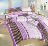 Povlečení bavlna Pralinky fialové 140x200, 70x90 cm II.jakost | Povlečení bavlna Pralinky fialové 140x200, 70x90 cm II.jakost