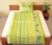 Povlečení bavlna Sedmikrásky zelené 140x200, 70x90 cm II.jakost | Povlečení bavlna Sedmikrásky zelené 140x200, 70x90 cm II.jakost