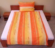 Povlečení bavlna Toffifee oranžové 140x200, 70x90 cm II.jakost | Povlečení bavlna Toffifee oranžové 140x200, 70x90 cm II.jakost