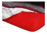 Froté prostěradlo do kočárku 35x75x2 cm červená | Froté prostěradlo do kočárku 35x75x2 cm červená
