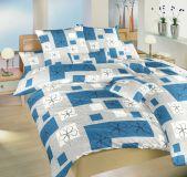 Povlečení bavlna Gobelín modrý 140x200, 70x90 cm II.jakost | Povlečení bavlna Gobelín modrý 140x200, 70x90 cm II.jakost